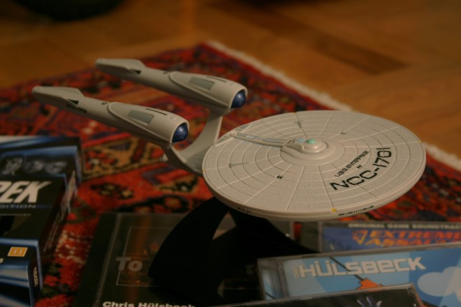 The assembled starship Enterprise.
